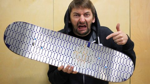 THE DEADLIEST SKATEBOARD EVER?! THE RAZOR BLADE COVERED SKATEBOARD - Braille Skateboarding