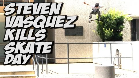 THE FEARLESS 9 YEAR OLD IS BACK STEVEN VASQUEZ !!! - Nka Vids Skateboarding