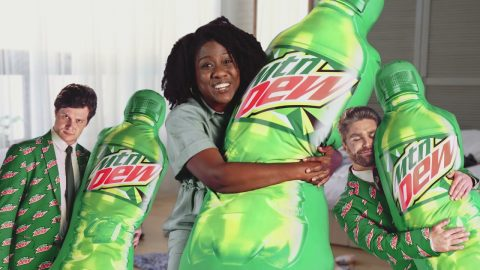 The Firm of Fizzy, Tasty, and Green Presents: The MTN DEW Body Pillow | Mountain Dew
