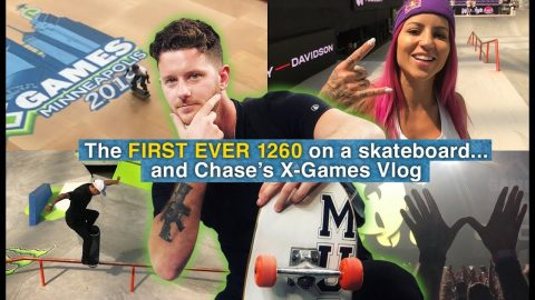 The FIRST EVER 1260 On A Skateboard... And Chase's X-Games Vlog | The Berrics