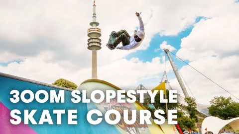 The first ever slopestyle skate course. | Red Bull Roller Coaster 2018 in Munich, Germany | Red Bull