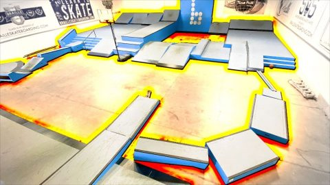 THE FLOOR IS LAVA! Skateboarding Obstacle Course! | Braille Skateboarding