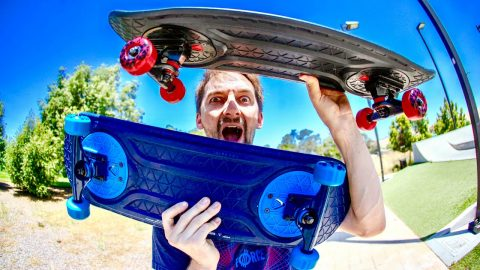 THE MOST INCREDIBLE SKATEBOARD INVENTION AT THE SKATEPARK!?! | Braille Skateboarding