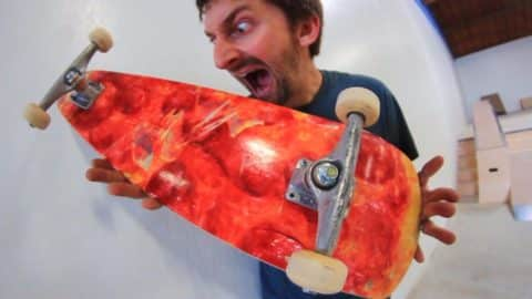 THE PIZZA SKATEBOARD!   YOU MAKE IT WE SKATE IT EP 68