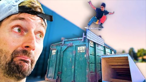 THE RETURN OF THE DUMPSTER! | Braille Skateboarding