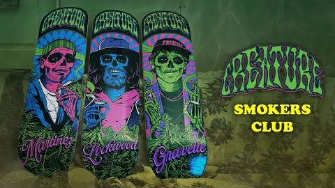The Smoker's Club featuring Milton Martinez, Cody Lockwood and David Gravette | Creature Skateboards
