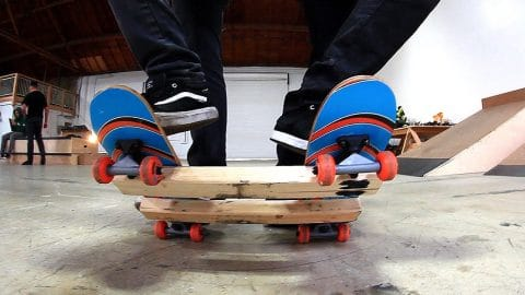 THE TWO MAN SKATEBOARD | IS THIS POSSIBLE?! - Braille Skateboarding