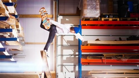 The warehouse of every skater's dream. - Red Bull