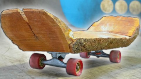 THE WOODEN LOG SKATEBOARD?! YOU MAKE IT WE SKATE IT | Braille Skateboarding