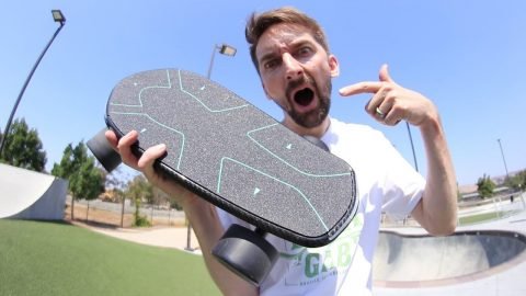 THE WORLD'S FIRST ARTIFICIAL INTELLIGENCE SKATEBOARD! | Braille Skateboarding