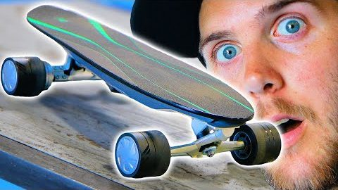 THE WORLD'S FIRST SMART ELECTRIC SKATEBOARD?!? | Braille Skateboarding