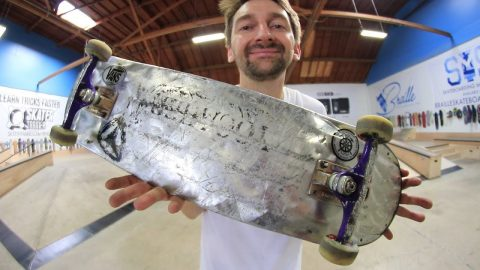 THE WORLD'S LIGHTEST METAL BOARD?!?!?! | YOU MAKE IT WE SKATE IT EP 194 - Braille Skateboarding