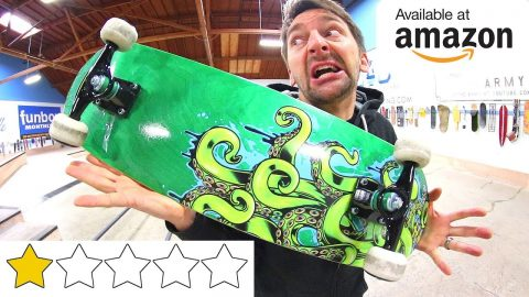THE WORST REVIEWED AMAZON SKATEBOARD OF ALL TIME! - Braille Skateboarding