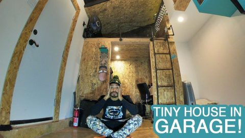TINY HOUSE IN GARAGE! (BUILD) | MannysWorld