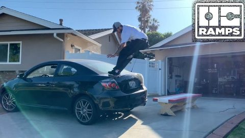 TJ Rogers skates his bench & car! | OC Ramps