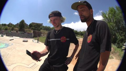 Tom Asta skates Barcelona DIY with the crew | Santa Cruz Skateboards