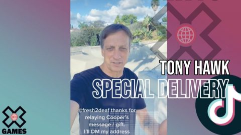 Tony Hawk Special Delivery via FedEx Driver | World of X Games | X Games