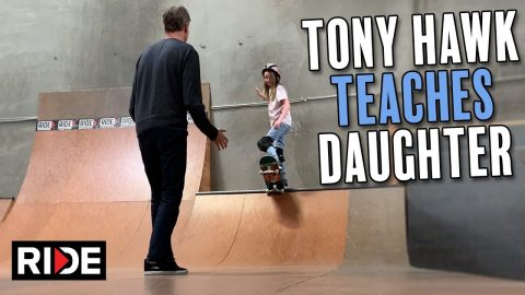 Tony Hawk Teaches Daughter to Drop In | RIDE Channel