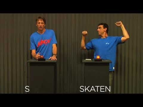 "Tony Hawk vs. Lance Mountain in TransWorld SKATEboarding's classic ""Skate Nerd"" 