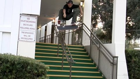 Tony Tave fs Flip Over Rail Raw Cut | E. Clavel