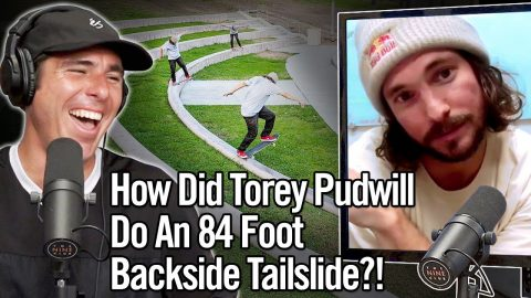 Torey Pudwill Did The Longest Backside Tailslide EVER!!! 84 Feet! | Nine Club Highlights