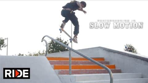 Tre Williams - Skateboarding in Slow Motion - RIDE Channel