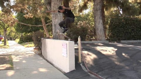 Trevor Colden Fakie Pop Shuv Bump Over Wall Raw Cut | E. Clavel