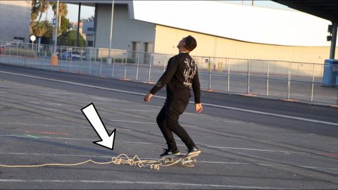 Tug of War on Skateboards! | Lamont Holt