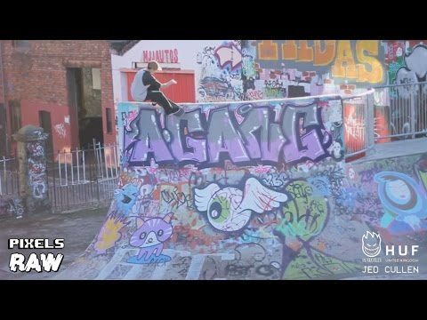 UK Spitfire Wheels X HUF - Jed Cullen RAW - Pixels