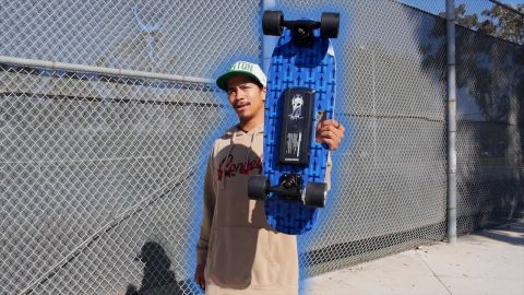 UNBOXING A TONY HAWK ELECTRIC SKATEBOARD?! | Vinh Banh