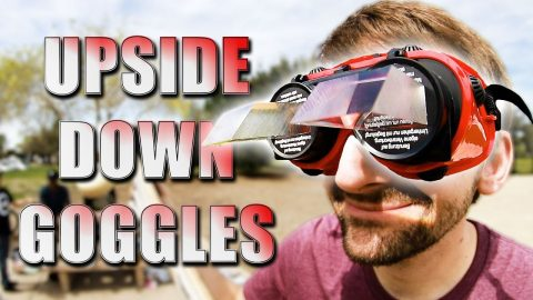 UPSIDE DOWN GOGGLES HARDEST STUPID SKATE EVER!? - Braille Skateboarding