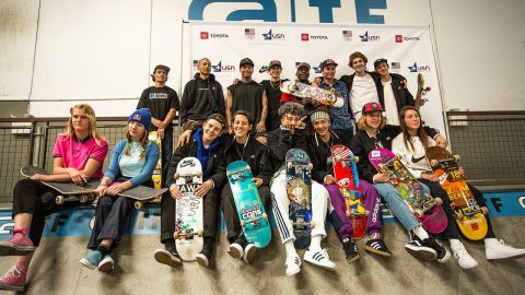 USA National Skateboarding Team Announcement and Skate Session | Dew Tour