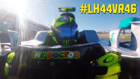Valentino Rossi Formula One Onboard - Driving Lewis Hamilton's Mercedes-AMG F1 W08 | Monster Energy