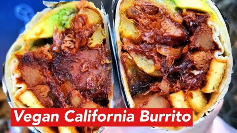 Vegan California Burrito Recipe | Joey Brezinski