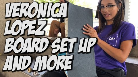 VERONICA LOPEZ BOARD SET UP & MUCH MORE !!! - NKA VIDS - | Nka Vids Skateboarding