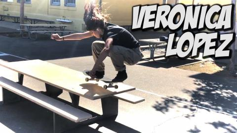 VERONICA LOPEZ LEARNS HOW TO OLLIE HIGH !!! NKA VIDS - Nka Vids Skateboarding