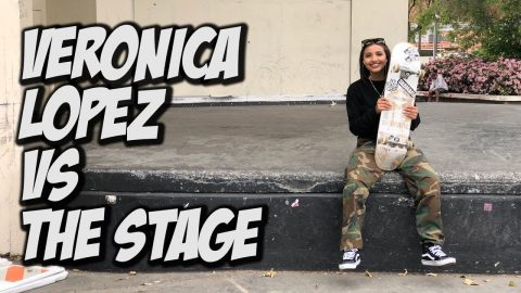 VERONICA LOPEZ Vs THE COURTHOUSE STAGE !!! - NKA VIDS - - Nka Vids Skateboarding