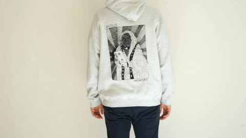 VHS MARY BACKPRINT HOODIE ASH | NOSTALGIA SKATEBOARDS
