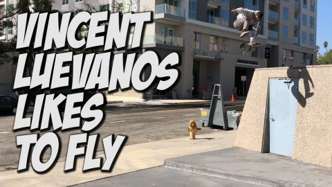 VINCENT LUEVANOS LIKES TO JUMP OFF THINGS !!! - NKA VIDS - - Nka Vids Skateboarding