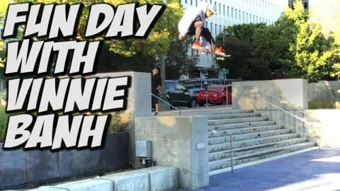 VINNIE BANH CHANNEL TAKE OVER !!! - A DAY WITH NKA - - Nka Vids Skateboarding
