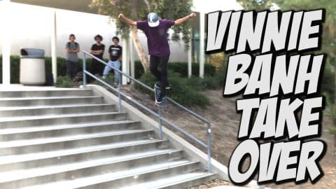 VINNIE BANH CHANNEL TAKE OVER Pt. #2 !!! - A DAY WITH NKA - - Nka Vids Skateboarding
