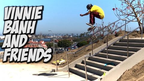 VINNIE BANH & DARRIUS HUTTON SKATE NEW STAIRS & MUCH MORE !!! - NKA VIDS - - Nka Vids Skateboarding