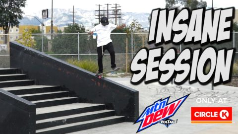 VINNIE BANH INSANE CIRCLE K CUP IN HAND SESSION !!! - Nka Vids Skateboarding