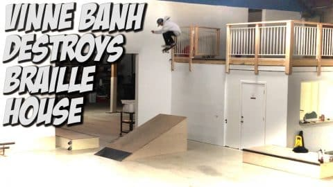 VINNIE BANH KILLS THE BRAILLE HOUSE !!! - A DAY WITH NKA - - Nka Vids Skateboarding