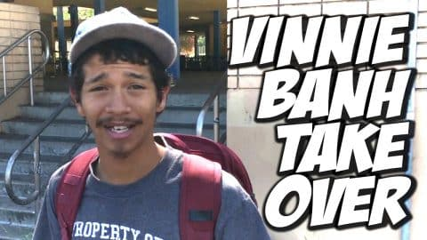 VINNIE BANH TAKES OVER MY CHANNEL !!! - A DAY WITH NKA - Nka Vids Skateboarding