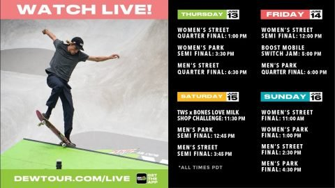 WATCH: 2019 Dew Tour Long Beach: Day 1 | TransWorld SKATEboarding