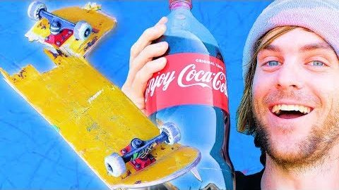 WE SOAKED A SKATEBOARD IN COCA COLA FOR 24 HOURS! | SKATE EXPERIMENTS EP. 7 | Braille Skateboarding