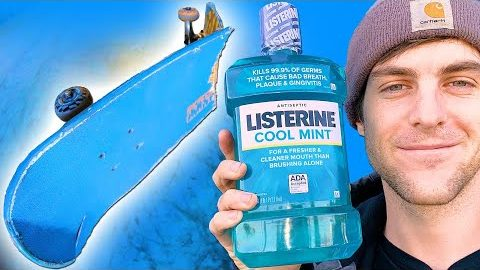 WE SOAKED A SKATEBOARD IN LISTERINE FOR 24 HOURS! | Braille Skateboarding