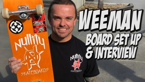 WEE MAN BOARD SET UP AND INTERVIEW !!! - Nka Vids Skateboarding