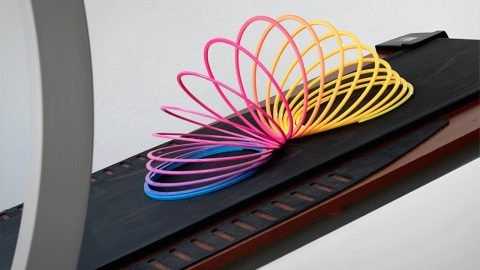 What Happens When You Put a Slinky on a Treadmill - Chris Chann